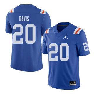 Men's Florida Gators #20 Malik Davis Royal Throwback Alternate Game Jersey