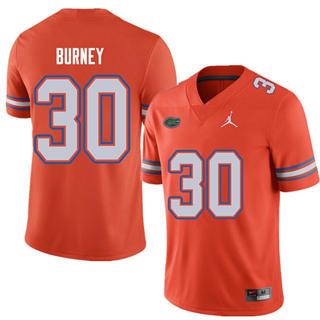 Men's Florida Gators #30 Amari Burney Orange Alternate NCAA Game Jersey
