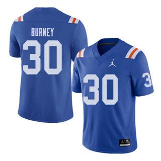 Men's Florida Gators #30 Amari Burney Royal Throwback Alternate Game Jersey