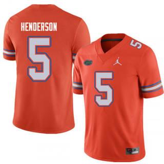 Men's Florida Gators #5 C.J. Henderson Orange NCAA Jersey