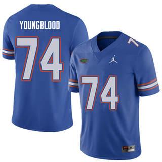 Men's Florida Gators #74 Jack Youngblood Royal NCAA Football Game Jersey