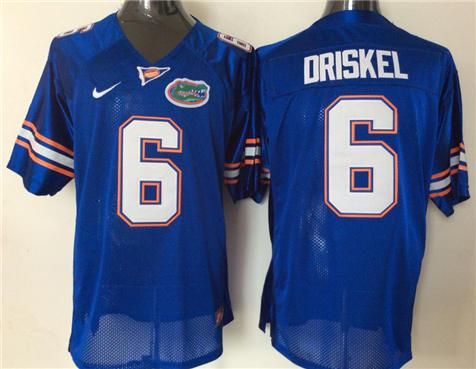 Men's Florida Gators Blue #6 DRISKEL Stitched College Football Jersey