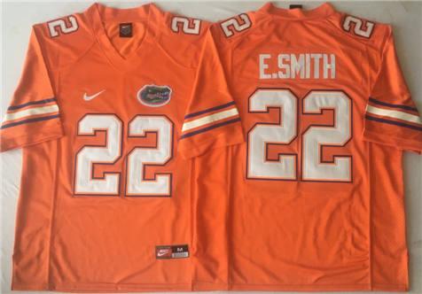 Men's Florida Gators Orange #22 E.SMITH Stitched College Football Jersey