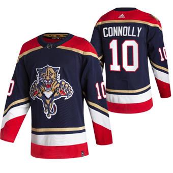 Men's Florida Panthers #10 Brett Connolly Black 2020-21 Reverse Retro Alternate Hockey Jersey