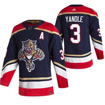 Men's Florida Panthers #3 Keith Yandle Black 2020-21 Reverse Retro Alternate Hockey Jersey
