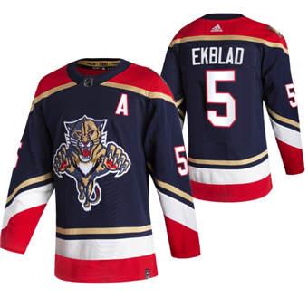 Men's Florida Panthers #5 Aaron Ekblad Black 2020-21 Reverse Retro Alternate Hockey Jersey