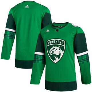 Men's Florida Panthers Blank 2020 St. Patrick's Day Stitched Hockey Jersey Green