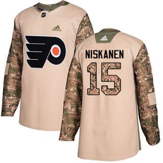 Men's Flyers #15 Matt Niskanen Camo Authentic 2017 Veterans Day Stitched Hockey Jersey