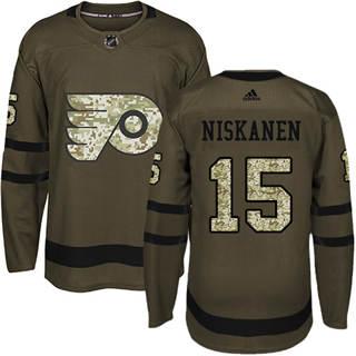 Men's Flyers #15 Matt Niskanen Green Salute to Service Stitched Hockey Jersey