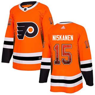 Men's Flyers #15 Matt Niskanen Orange Home Authentic Drift Fashion Stitched Hockey Jersey