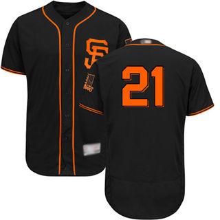 Men's Giants #21 Stephen Vogt Black Flexbase  Collection Alternate Stitched Baseball Jersey