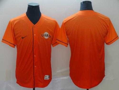 Men's Giants Blank Orange Fade  Stitched Baseball Jersey