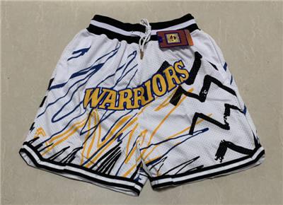 Men's Golden State Warriors Hardwood Classics Stitched Basketball Short