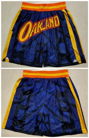 Men's Golden State Warriors Navy Basketball Shorts(Run Small)