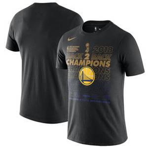 Men's Golden State Warriors  2018 Basketball Finals Champions Locker Room T-Shirt – Black