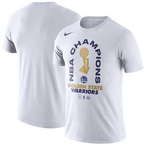 Men's Golden State Warriors  2018 Basketball Finals Champions Parade T-Shirt – White