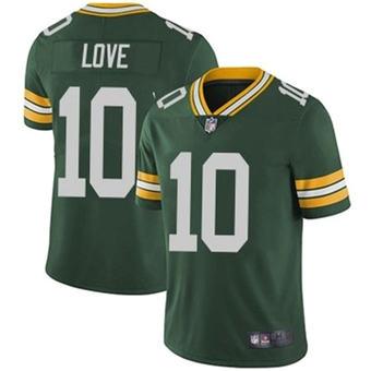 Men's Green Bay Packers #10 Jordan Love Green Stitched Football Jersey