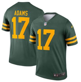 Men's Green Bay Packers #17 Davante Adams 2021 Green Legend Stitched Football Jersey
