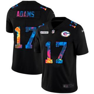 Men's Green Bay Packers #17 Davante Adams Multi-Color Black 2020 Football Crucial Catch Vapor Untouchable Limited Jersey
