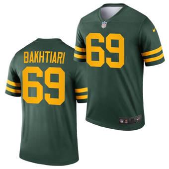 Men's Green Bay Packers #69 David Bakhtiari 2021 Green Legend Stitched Football Jersey