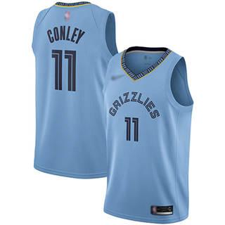 Men's Grizzlies #11 Mike Conley Light Blue Basketball Swingman Statement Edition Jersey