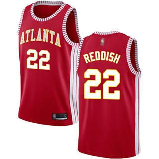 Men's Hawks #22 Cam Reddish Red Basketball Swingman Statement Edition Jersey