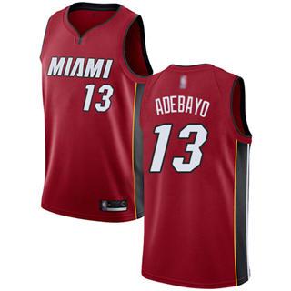 Men's Heat #13 Bam Adebayo Red Basketball Swingman Statement Edition Jersey