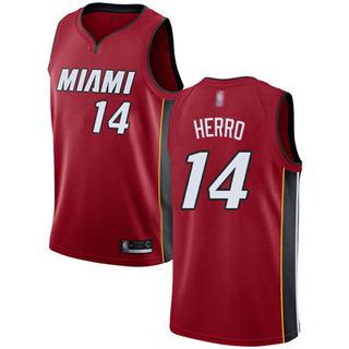 Men's Heat #14 Tyler Herro Red Basketball Swingman Statement Edition Jersey