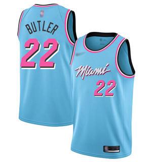 Men's Heat #22 Jimmy Butler Blue Basketball Swingman City Edition 2019-2020 Jersey