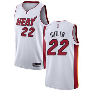 Men's Heat #22 Jimmy Butler White Basketball Swingman Association Edition Jersey