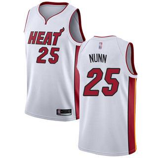 Men's Heat #25 Kendrick Nunn White Basketball Swingman Association Edition Jersey