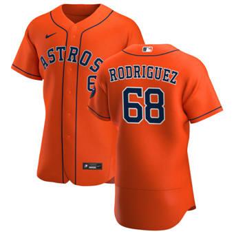 Men's Houston Astros #68 Nivaldo Rodriguez Orange Alternate 2020 Authentic Team Baseball Jersey