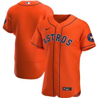 Men's Houston Astros 2020 Orange Alternate Authentic Team Baseball Jersey