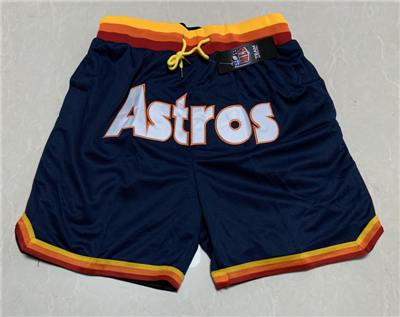 Men's Houston Astros Hardwood Classics Stitched Baseball Short
