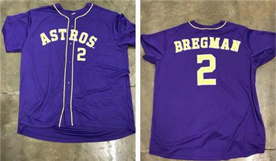 Men's Houston Astros Navy #2 Alex Bregman Cool Base Stitched Baseball Jersey