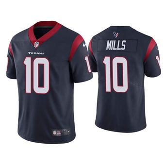 Men's Houston Texans #10 Davis Mills Navy Vapor Untouchable Limited Stitched Jersey