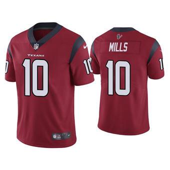 Men's Houston Texans #10 Davis Mills Red Vapor Untouchable Limited Stitched Jersey