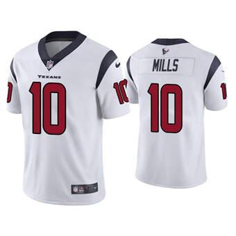 Men's Houston Texans #10 Davis Mills White Vapor Untouchable Limited Stitched Jersey