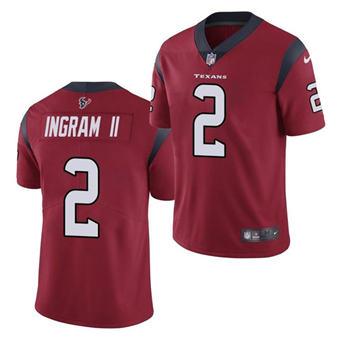 Men's Houston Texans #2 Mark Ingram II Red Vapor Untouchable Limited Stitched Jersey