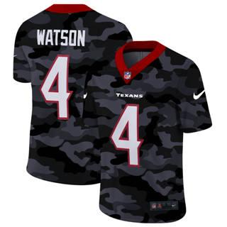 Men's Houston Texans #4 Deshaun Watson 2020 Black CAMO Vapor Untouchable Limited Stitched Football Jersey