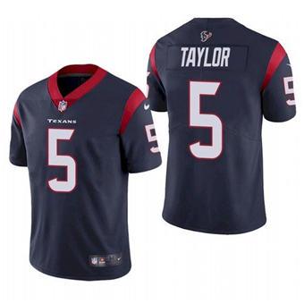 Men's Houston Texans #5 Tyrod Taylor Navy Vapor Untouchable Limited Stitched Jersey