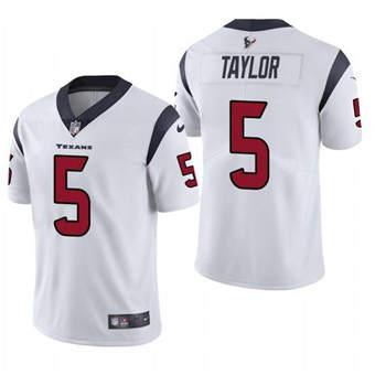 Men's Houston Texans #5 Tyrod Taylor White Vapor Untouchable Limited Stitched Jersey