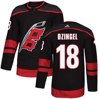 Men's Hurricanes #18 Ryan Dzingel Black Alternate Authentic Stitched Hockey Jersey