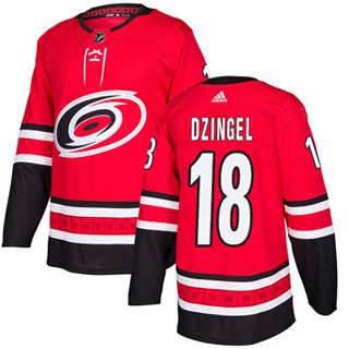 Men's Hurricanes #18 Ryan Dzingel Red Home Authentic Stitched Hockey Jersey