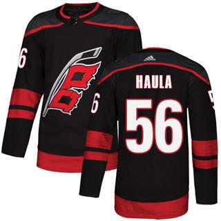 Men's Hurricanes #56 Erik Haula Black Alternate Authentic Stitched Hockey Jersey