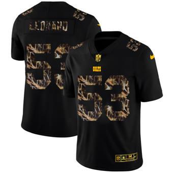 Men's Indianapolis Colts #53 Darius Leonard Black Flocked Lightning Vapor Limited Football Jersey