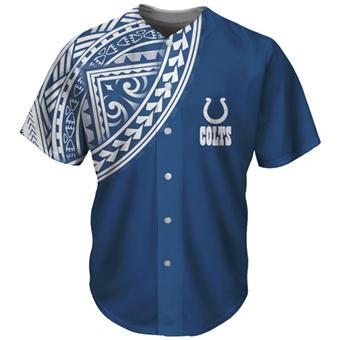Men's Indianapolis Colts Blue Baseball Jersey