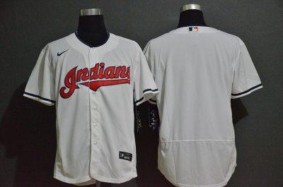 Men's Indians Blank White 2020 Baseball Flexbase Jersey
