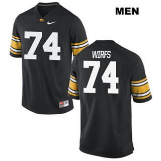 Men's Iowa Hawkeyes #74 Tristan Wirfs NCAA Black College Football Jersey