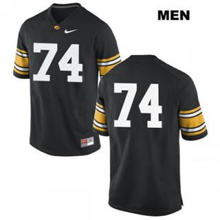 Men's Iowa Hawkeyes #74 Tristan Wirfs NCAA Black No Name College Football Jersey